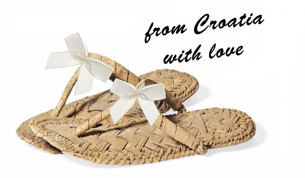 Wedding sandals from Croatia