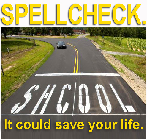 Spellcheck sign